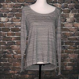 Gap Body heathered high low shirt long sleeved M